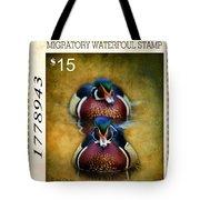 Duck Stamp Art Tote Bag