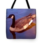 Duck Swimming Tote Bag