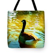 Duck Swimming Away Tote Bag