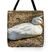 Duck Taking A Nap Tote Bag