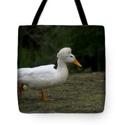 Duck With Stylish Hair Tote Bag