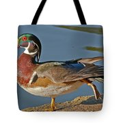 Duck Yoga Tote Bag