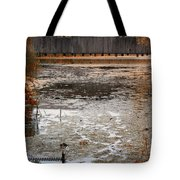Ducking Under The Bridge Tote Bag