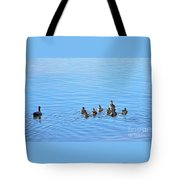 Ducklings Day Out Tote Bag by Kaye Menner