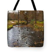 Ducks And Leaves Tote Bag