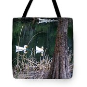 Ducks And Turtles Tote Bag