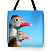 Ducks At Attention Tote Bag