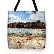 Ducks At The Beach Again Tote Bag