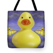 Ducks In A Row 3 Tote Bag