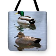 Ducks On A Pond Tote Bag