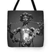 Duel Flute Bw Tote Bag