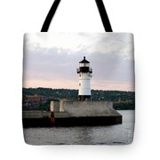 Duluth Mn Lighthouse Skyline Tote Bag