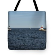 Duluth N And S Pier Lighthouses 5 Tote Bag