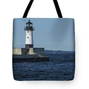 Duluth N Pier Lighthouse 40 Tote Bag