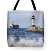 Duluth N Pierhead And Ship 1 Tote Bag