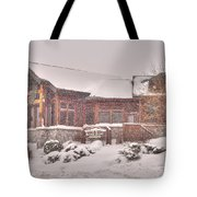 Duluth Winter Blackwoods Grill Tote Bag