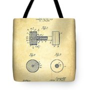 Dumbbell Patent Drawing From 1935 -vintage Tote Bag
