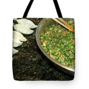 Dumpling Preparation Tote Bag