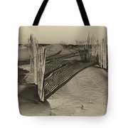 Dune Erosion Fence Outer Banks Nc Antique Plate Img_3761 Tote Bag