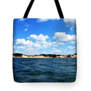 Dunes And Lake Michigan Tote Bag by Michelle Calkins