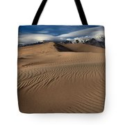 Dunes Ripples And Clouds Tote Bag