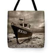Dungeness Boat Under Stormy Skies Tote Bag