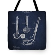 Dunn Golf Club Patent Drawing From 1900 - Navy Blue Tote Bag