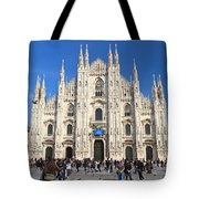 Duomo In Milano. Italy Tote Bag by Antonio Scarpi