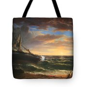 Durand's The Stranded Ship Tote Bag