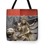 Durga In Kumartuli Tote Bag by Shaun Higson