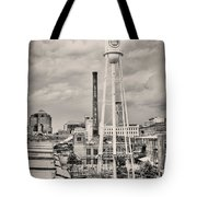 Durham In Black And White Tote Bag