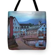 Dusk Before Snow At Town Square Tote Bag