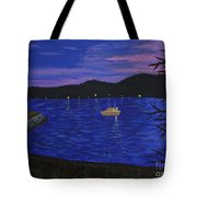 Dusk On Puget Sound Tote Bag