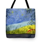 Dusky Scene Of Stars And Beans Tote Bag