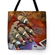 Dust Covered Wine Bottles Tote Bag by Allen Sheffield