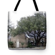 Dusting Of Snow At Church On Pennsylvania St Fort Worth Tx Tote Bag