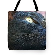 Dusty Black Cat Tote Bag