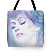 Dusty Blues Tote Bag