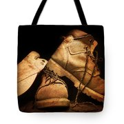 Dusty Work Boots Tote Bag