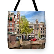 Dutch Canal Houses In Amsterdam Tote Bag