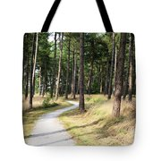 Dutch Country Bicycle Path Tote Bag