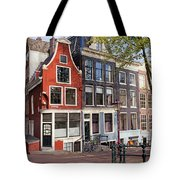 Dutch Style Traditional Houses In Amsterdam Tote Bag