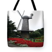 Dutch Windmill In Golden Gate Park Tote Bag