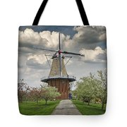 Dutch Windmill The Dezwaan On Windmill Island In Holland Michigan Tote Bag