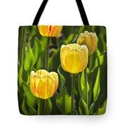 Dutch Yellow Tulip Flowers On Windmill Island In Holland Michigan Tote Bag