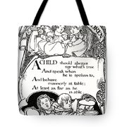 Duty Of Children  1895 Tote Bag