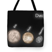 Dwarf Planets, Illustration Tote Bag