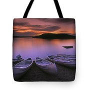 D.wiggett Canoes On Shore, Pink And Tote Bag by First Light