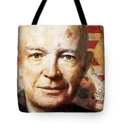 Dwight D. Eisenhower Tote Bag by Corporate Art Task Force