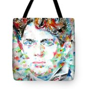 Dylan Thomas - Watercolor Portrait Tote Bag